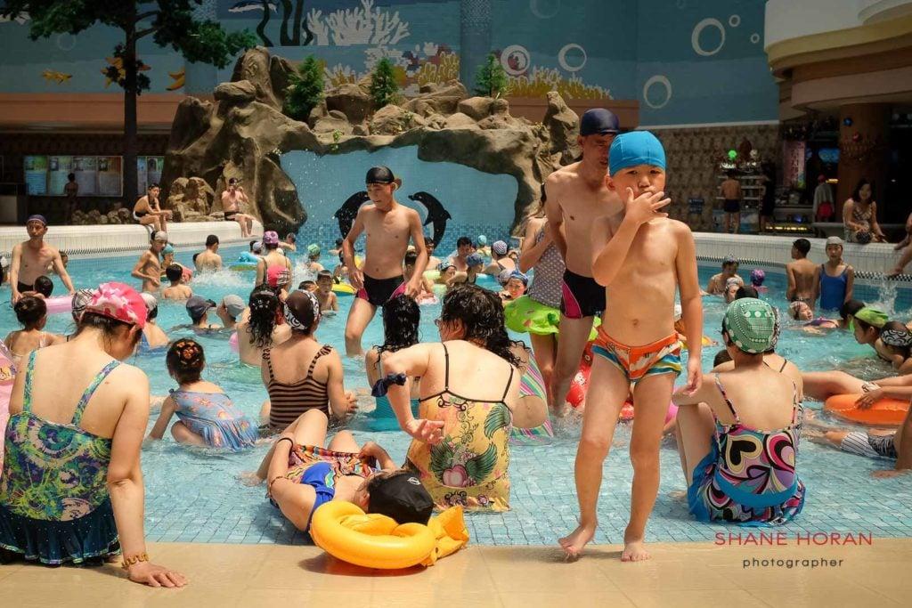 Family fun at Munsu Waterpark, Pyongyang