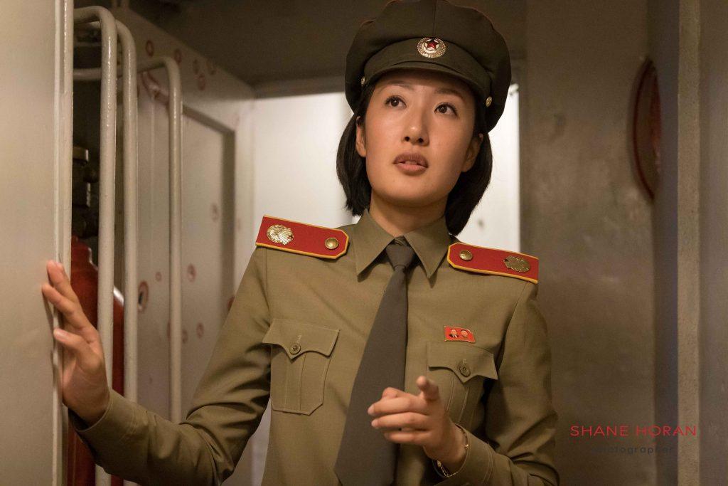 Military guide on the Pueblo ,Pyongyang, North Korea