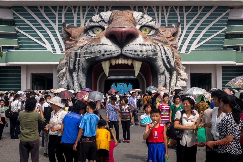Main entrance of Pyongyang Zoo, Pyongyang, North Korea