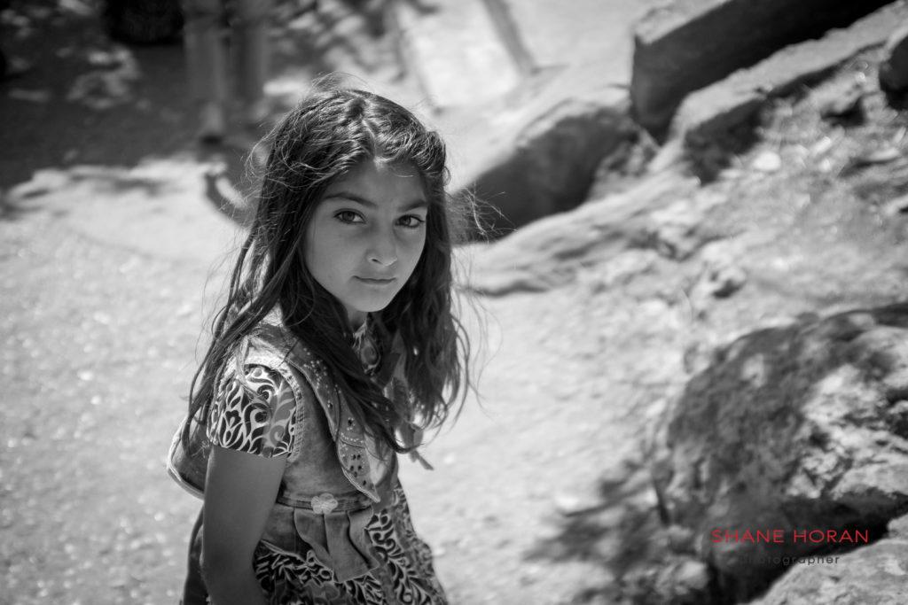Yazidi girl in Lalish, Iraq