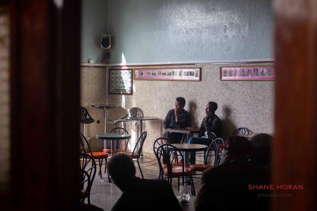 Locals in a Asmara coffee shop