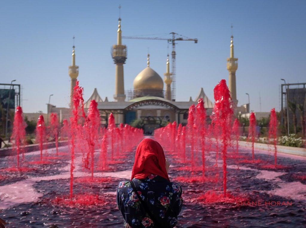 A woman at the Imam Khomeini shrine, Tehran, Iran