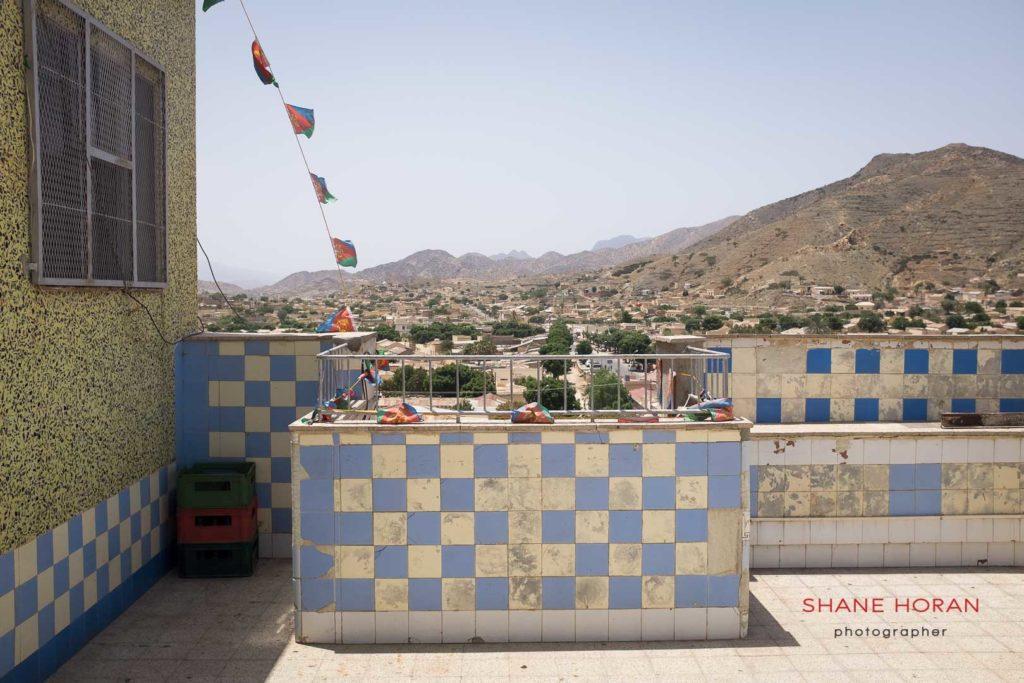 Hotel rooftop in Keren, Eritrea