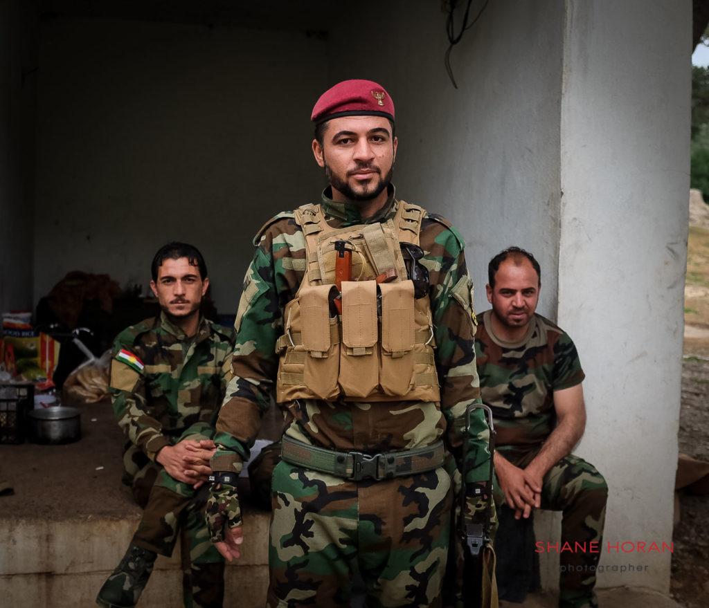 Kurdish Peshmerga unit in Lalish, Kurdistan