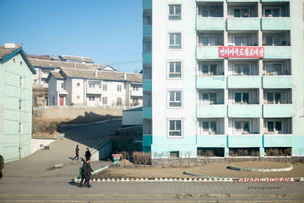 Small town outside Sinuiju, North Korea