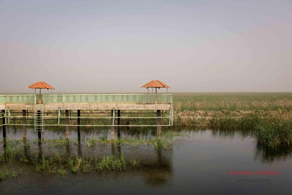 Abandoned tourist rest area, southern Iraq