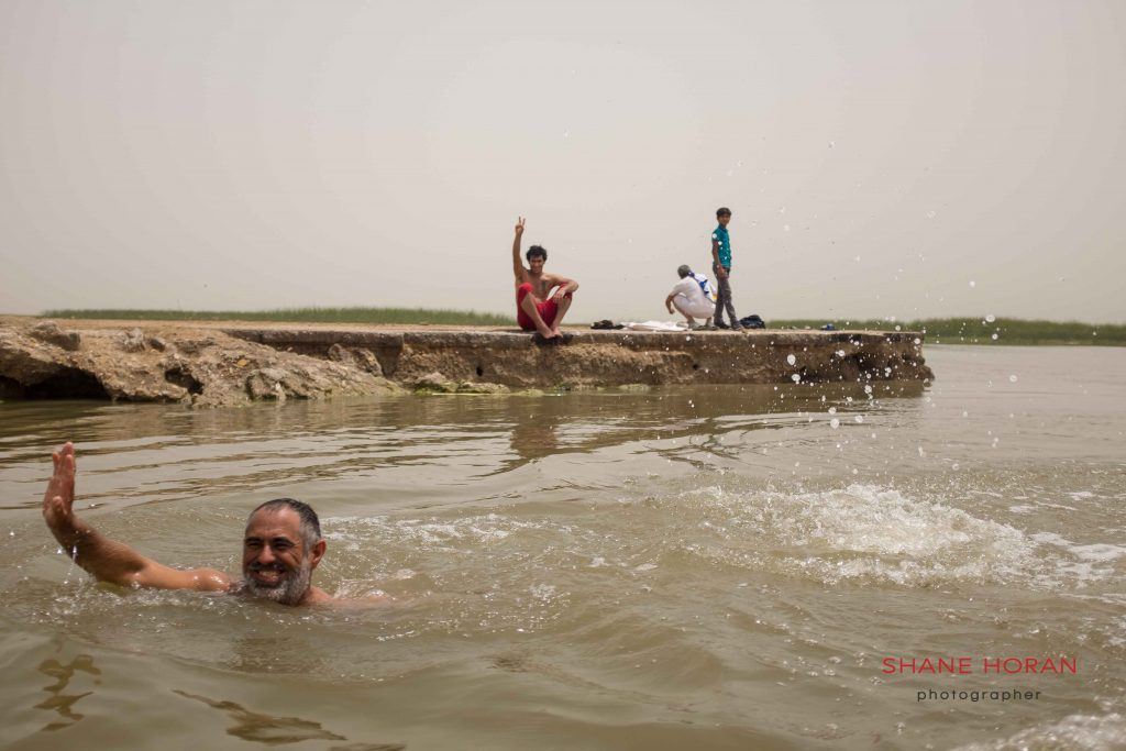 Time out in the southern Iraqi Marshlands.