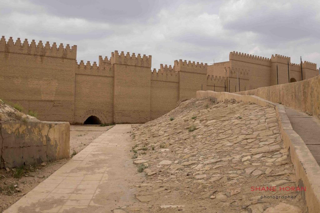 Babylon palace facade, Iraq.