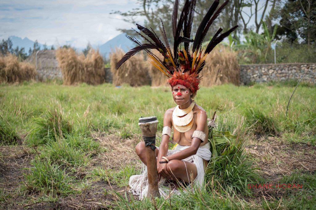Prepared and waiting, Mt Hagen, Papua New Guinea