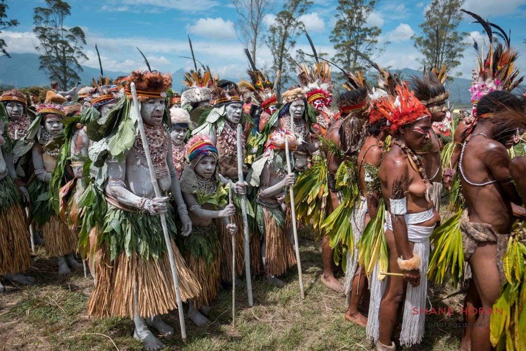 Entering the show, Papua New Guinea