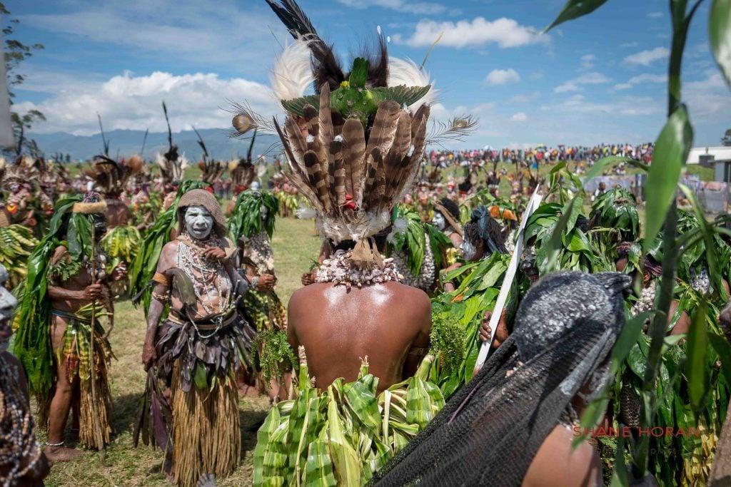 Among the crowds, Mount Hagen, Papua New Guinea