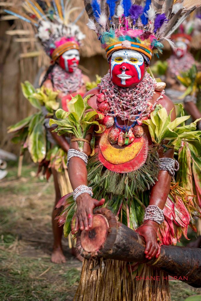 Warming up before the show, Papua New Guinea