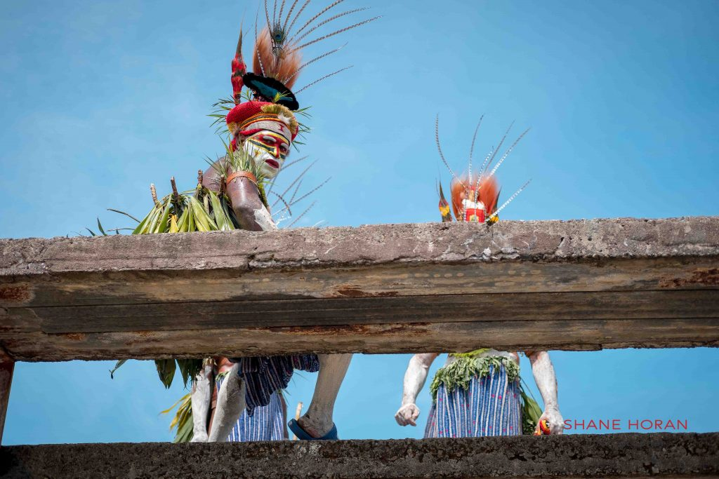 Making use of the bleachers, Mt Hagen, Papua New Guinea