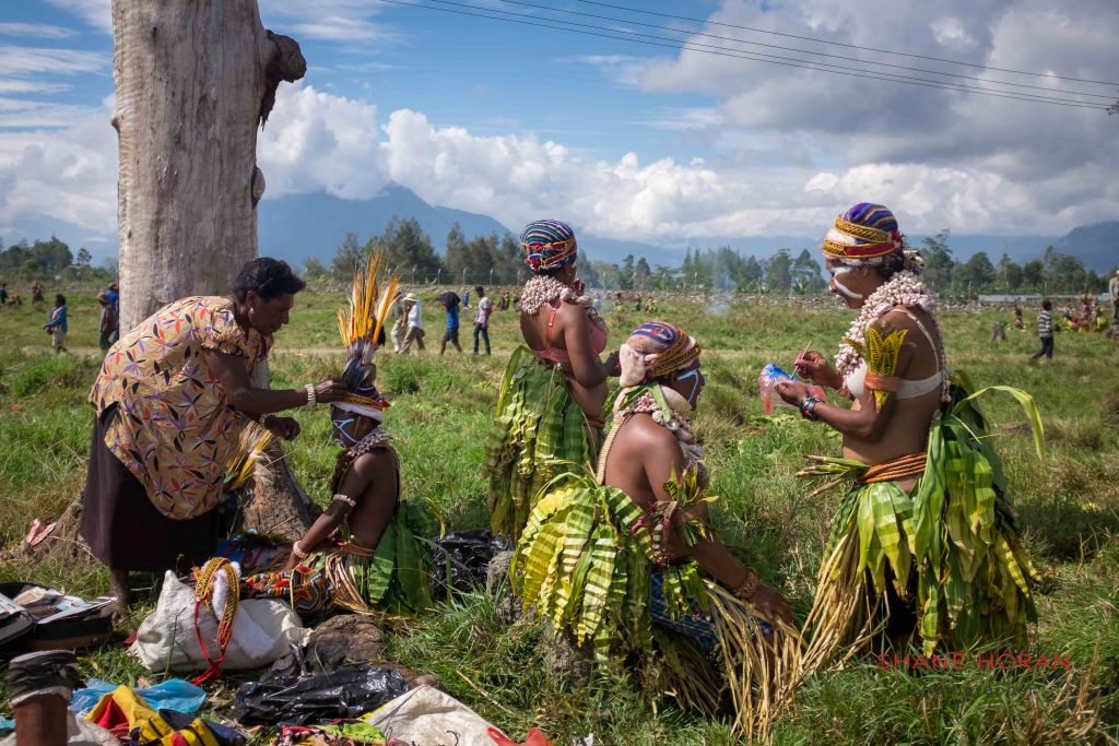 Field preparations for the Mount Hagen show, Papua New Guinea