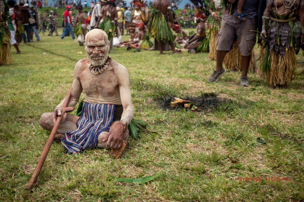Resting mudman, Papua New Guinea
