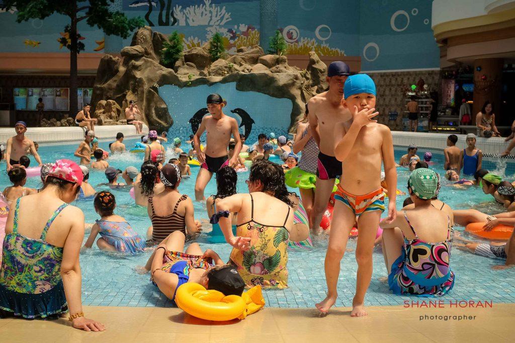 Indoor wave pool, Munsu water park, Pyongyang, North Korea.