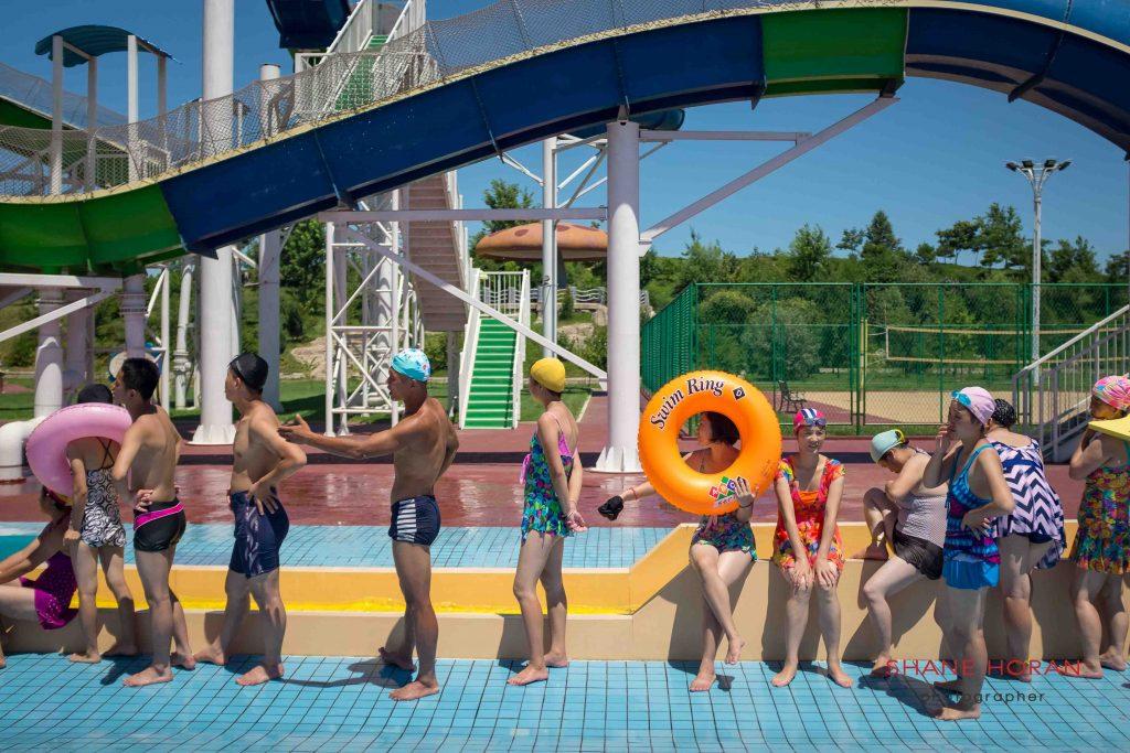 Through the swim ring, Munsu water park, Pyongyang, North Korea.