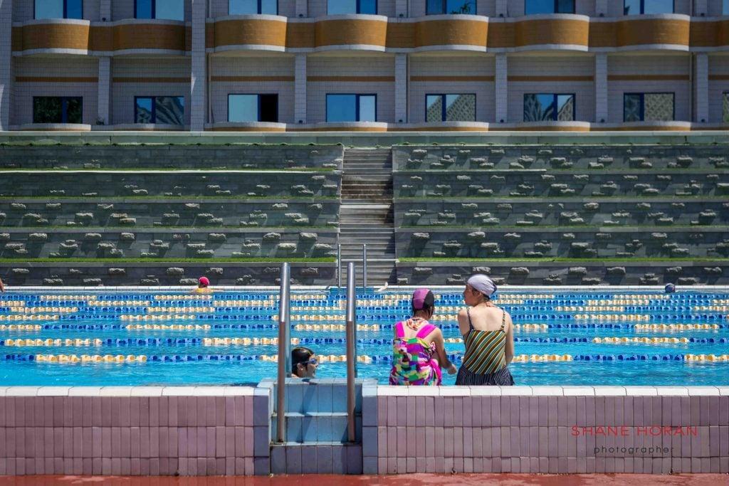 Olympic pool, Munsu water park, Pyongyang, North Korea.