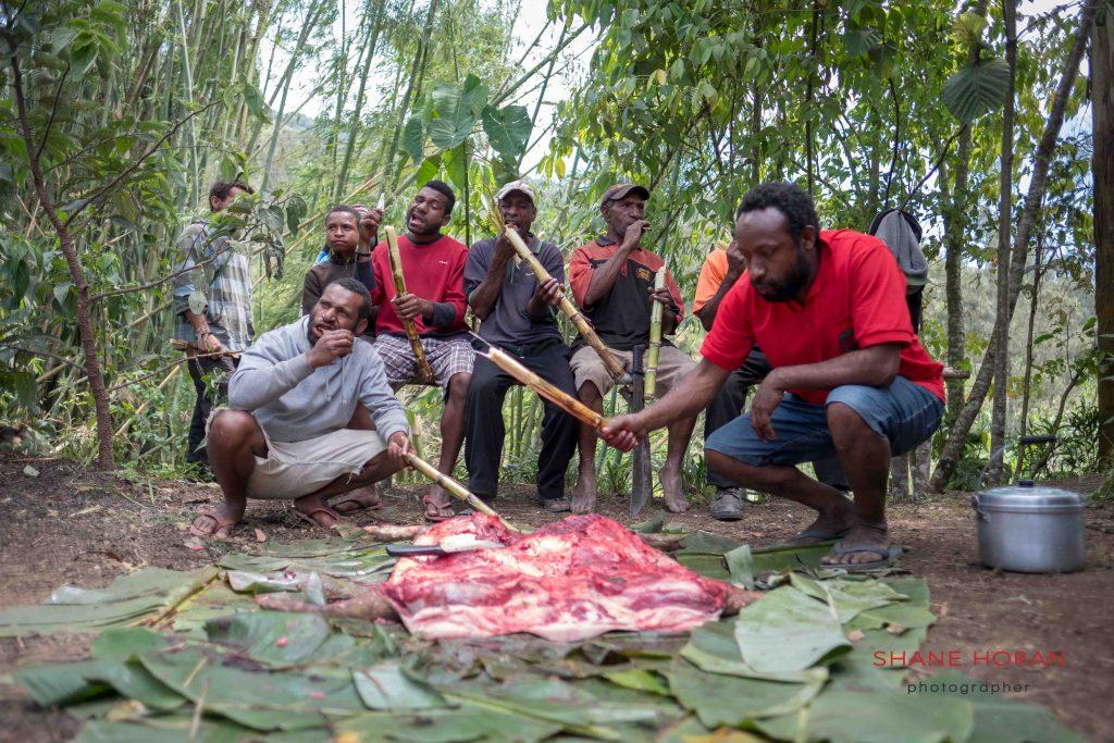 Bamboo and pork, Papua New Guinea