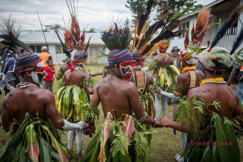 School class perform in Papua New Guinea