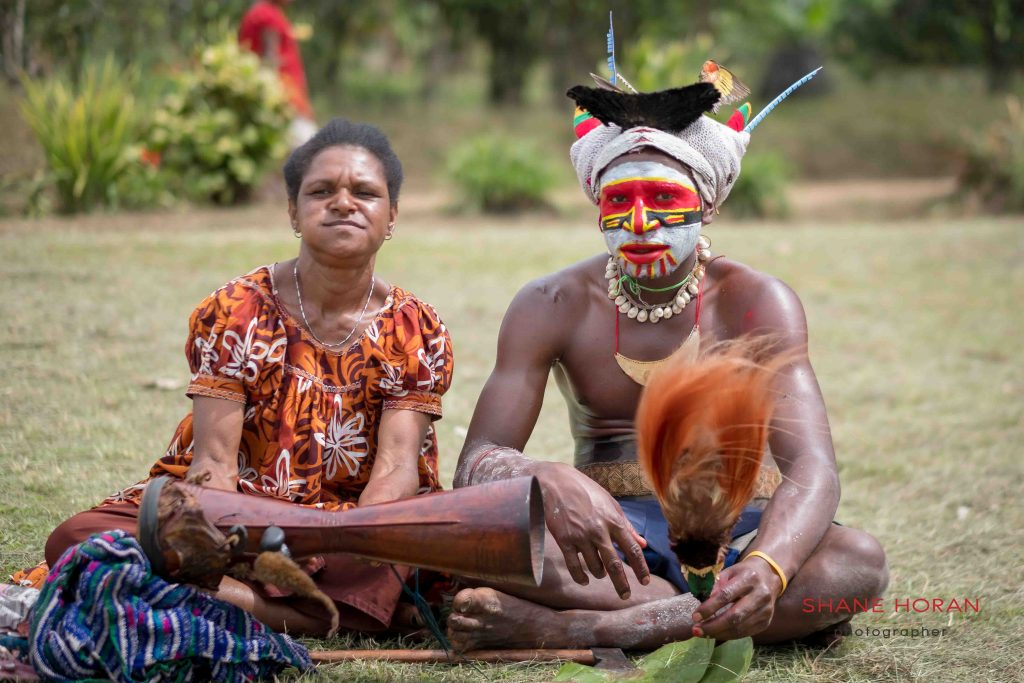 Time out from the village show, Papua New Guinea