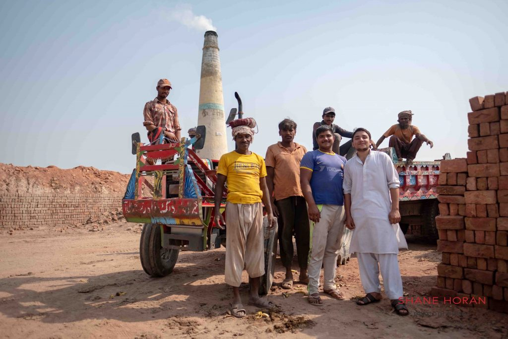 Brick laborers in Pakistan