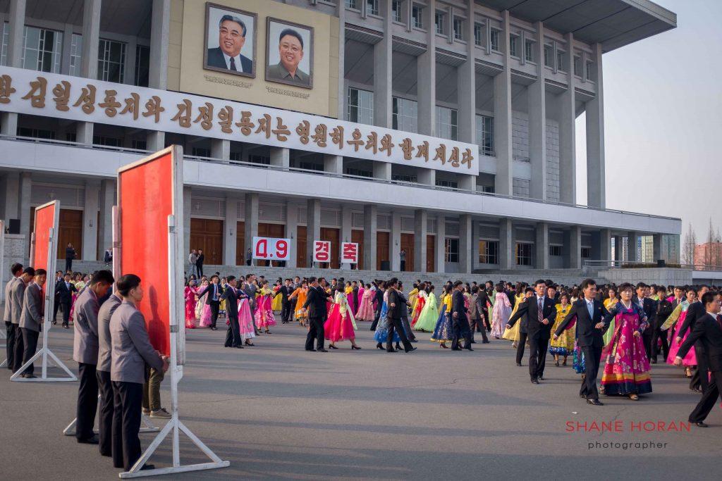 Mass dance at the Indoor stadium, Pyongyang, North Korea