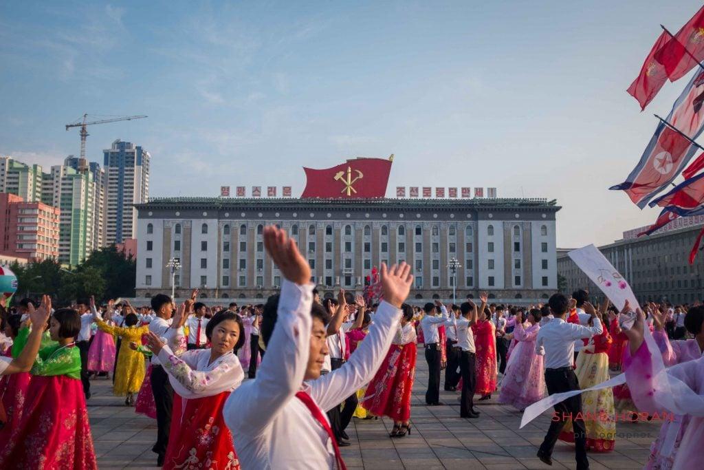 Student performing, Pyongyang, North Korea