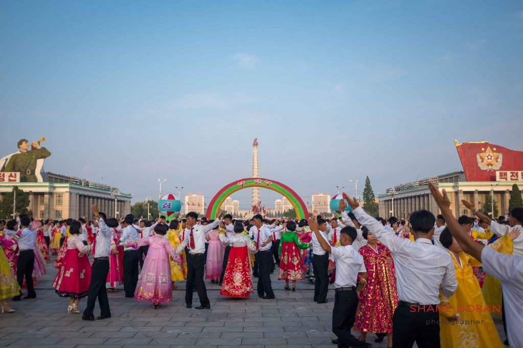 Victory day celebrations in Kim Il Sung Square, Pyongyang, North Korea