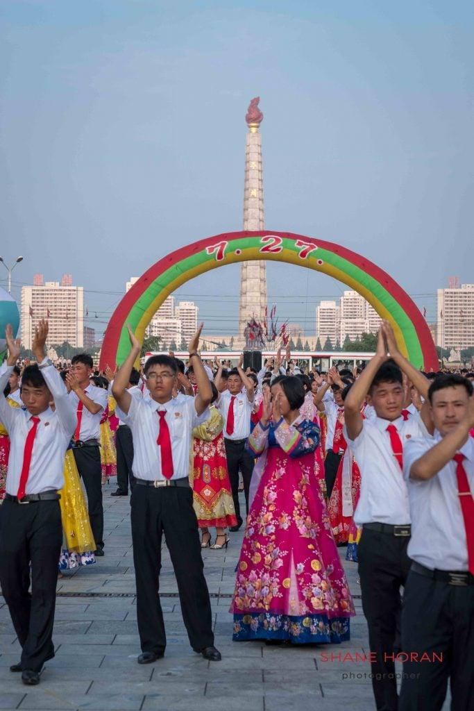 After the Mass Dance, Pyongyang, North Korea